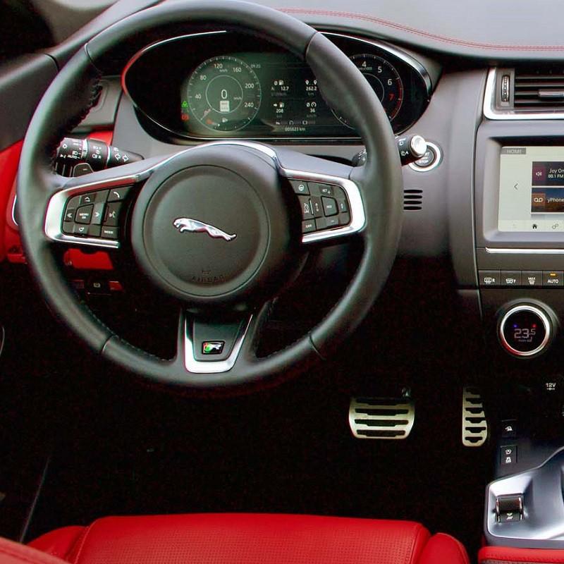 Pédales Sport Jaguar E-Pace à boîte automatique