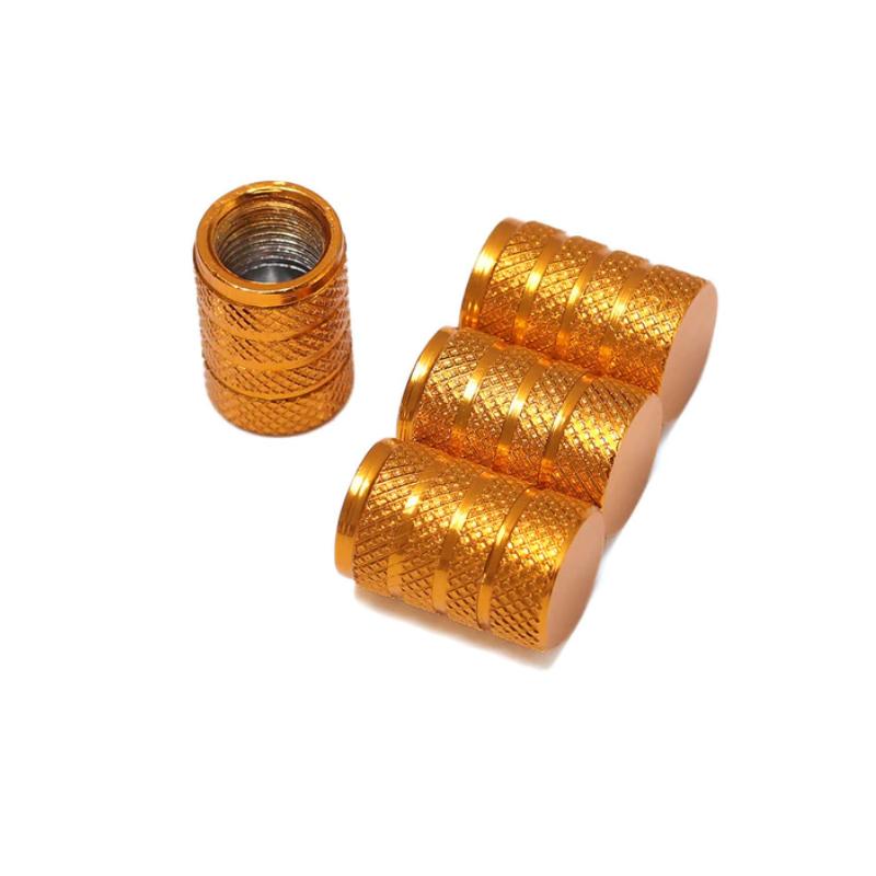 Set de 4 bouchons de valves or aluminium CNC