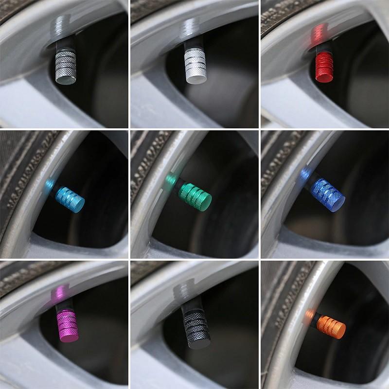 Bouchons de valves d'air couleur alu CNC