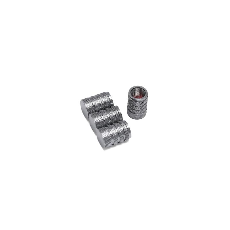 Bouchons de valves gris aluminium CNC