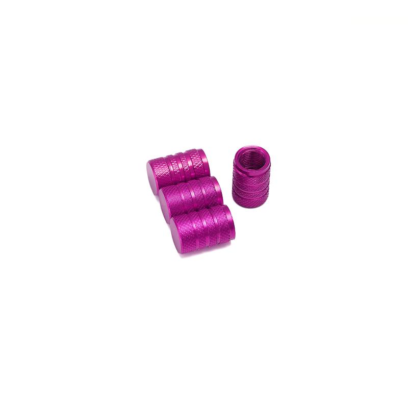 Bouchons de valves violet aluminium CNC