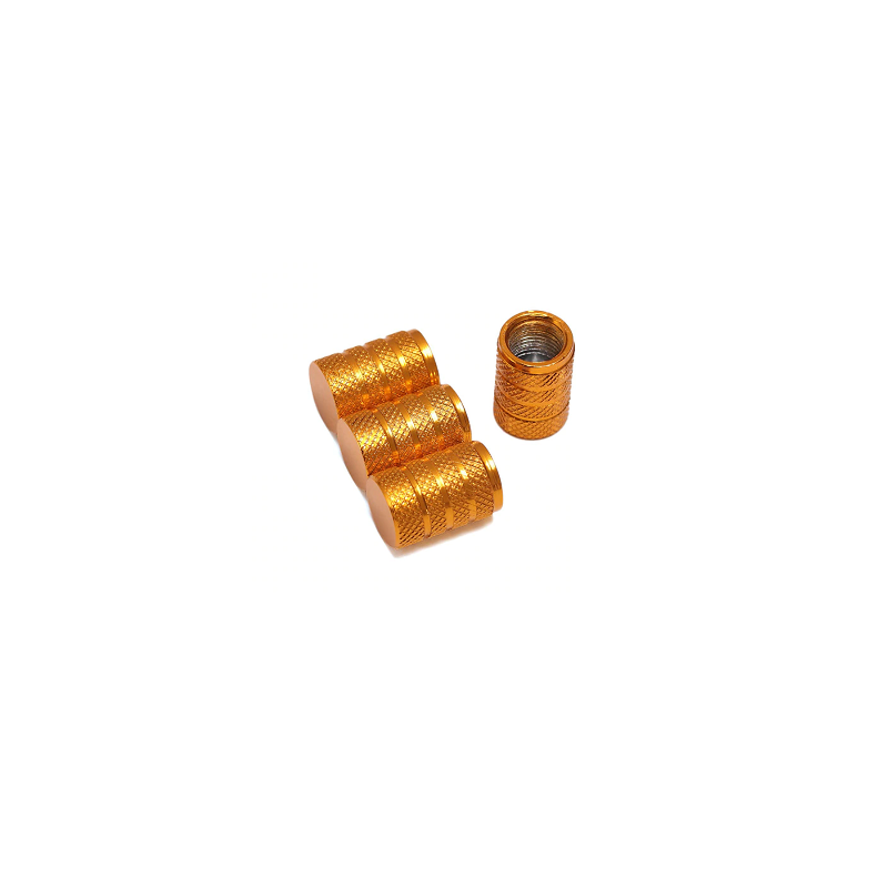 Bouchons de valves or aluminium CNC