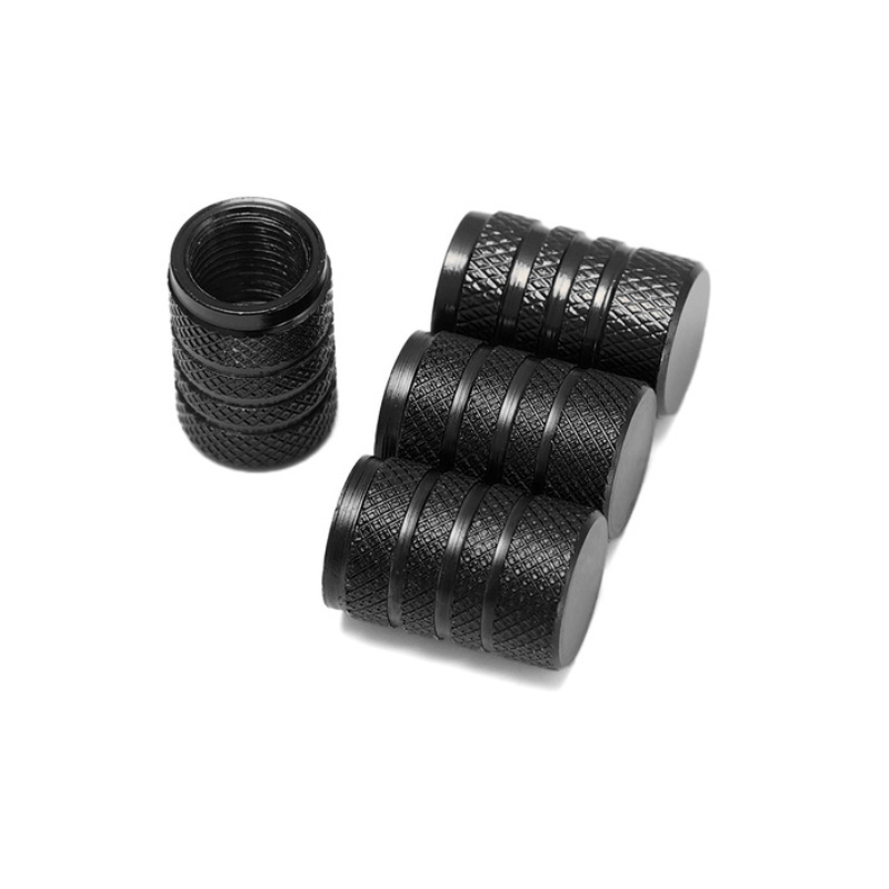 Set bouchons de valves aluminium noir